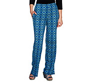 As Is Attitudes by Renee Regular Printed Pull-On Wide Leg Pants - A277765