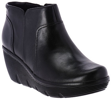 Clarks Artisan Leather Wedge Ankle Boots - - Clarene Sun - A282065