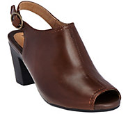 Earth Origins Peep-toe Slingback Leather Booties - Sydney - A282865