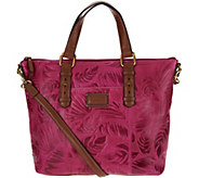 As Is Tignanello Palm Embossed Vintage Leather RFID Shopper - A286465