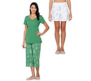 As Is SleepIn by BedHead PJs Rooster Toile 3 Piece Set Pajama Set - A288265