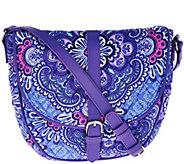 As Is Vera Bradley Signature Print Slim Saddle Bag - A291065