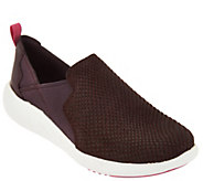 As Is Clarks Artisan Snake Embossed Leather Slip-On Shoes - A293365