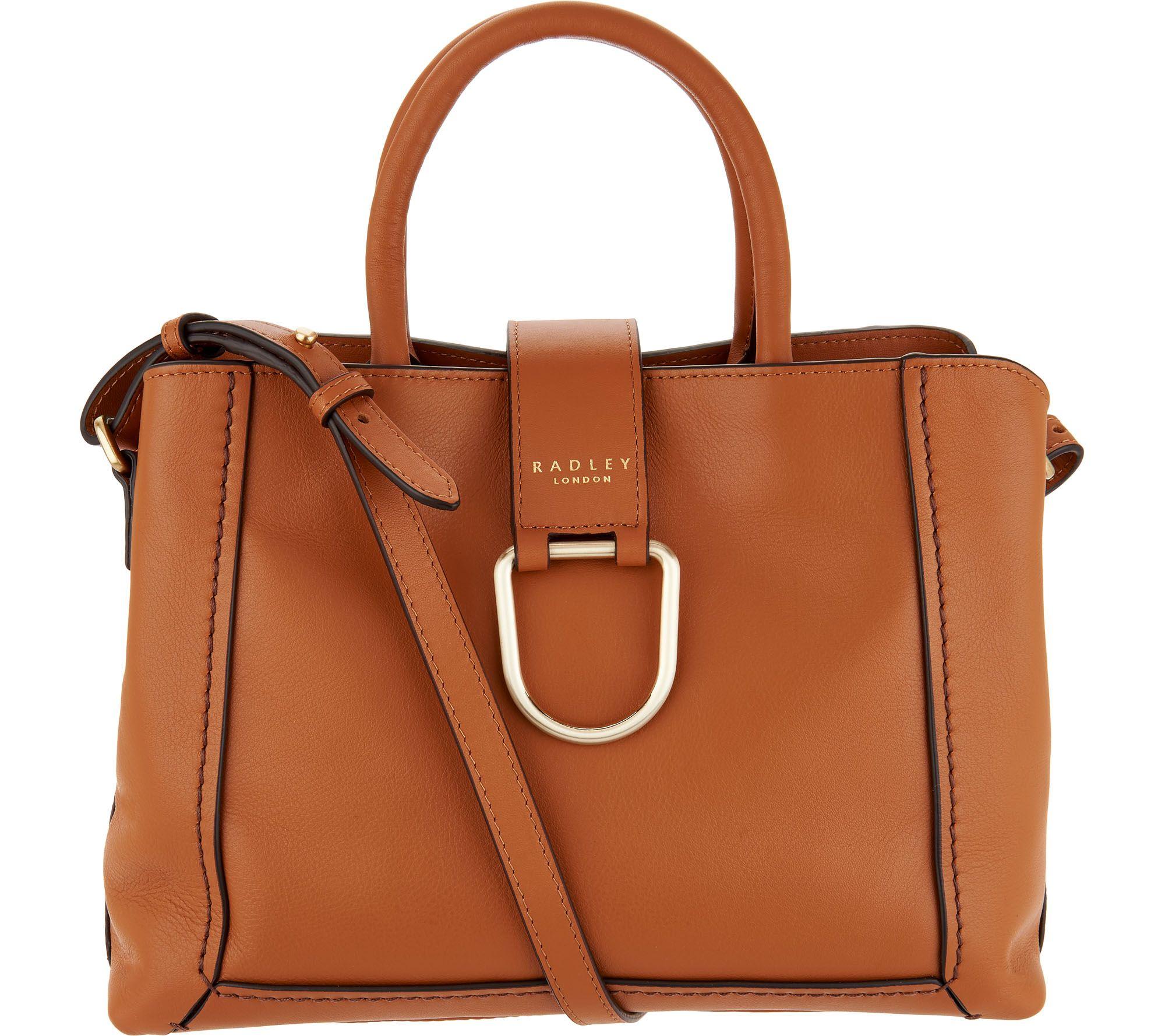As Is Radley London Primrose Hill Leather Satchel Handbag A306300
