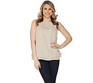 Joan Rivers Double Layer Printed Soft Crepe Tank - A302665