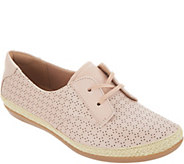 Clarks Perforated Leather Lace-Up Shoes - Danelly Millie - A306965