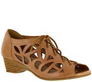 Bella Vita Leather Lace-up Sandals - Pixie - A335665