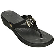Crocs Croslite Slip-On Sandals - Sanrah CircleWedge Flip - A336365