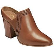 Aerosoles Heel Rest Leather Mules - Pocket Square - A364065