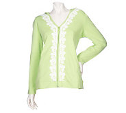 Sport Savvy Zip Front Hooded Jacket with Lace Trim - A96865