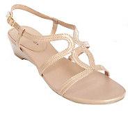 Andrew Geller Leather Multi-Strap Gladiator Sandals - A214666
