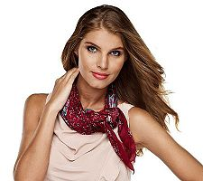 Luxe Rachel Zoe Country Floral Print Square Scarf