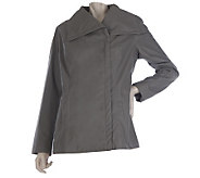 Kris Jenner Kollection Faux Leather Jacket with Pockets - A219266