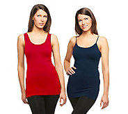 skinnytees Seamless Tank and Cami Set - A222566