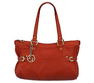 Maxx New York Nappa Leather Satchel with Pebble Leather Trim - A222666