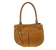 As Is B. Makowsky Vintage Leather Multi Pocket Shopper - A228166