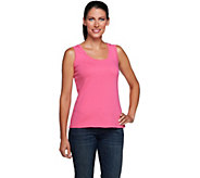 Denim & Co. Essentials Knit Scoop Neck Tank Top - A232366