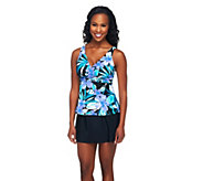 DreamShaper by Miraclesuit Katie Tankini in Periwinkle or Turquoise - A232866