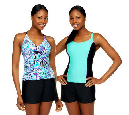 Ocean Dream Signature 3-Piece Tankini Set with Swim Shorts