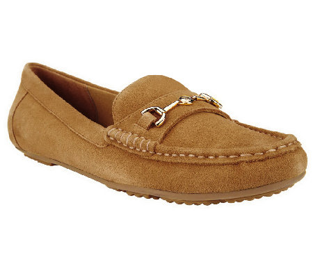 Isaac Mizrahi Live! Classic Suede Moccasins