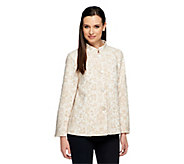 George Simonton Knit Jacquard Jacket with Fly Away Back - A241066
