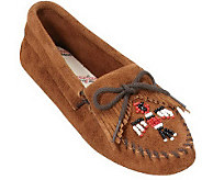 Minnetonka Suede Leather Moccasins - Thunderbird Softsole - A245566