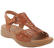 BareTraps Perforated Leather Adj. Strap Sandals - Jordy - A252966