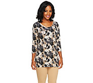 Isaac Mizrahi Live! Wildflower Floral Print Knit Tunic - A255666