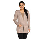 Joan Rivers Long Sleeve Knit Sequin Cardigan - A255866