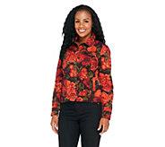 Isaac Mizrahi Live! Denim Jacket with Floral Print - A256466