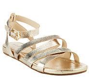 Isaac Mizrahi Live! Leather Gladiator Sandals - A261666