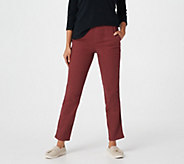 Denim & Co. How Timeless Petite 4 Pocket Pull-On Pants - A262866