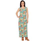 Liz Claiborne New York Petite Floral Stripe Maxi Dress - A262966