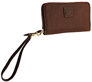 As Is Dooney & Bourke Florentine Leather Zip Around Wristlet - A265166