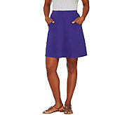 Liz Claiborne New York Pull-On Interlock Knit Skort - A266166