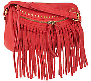 Joelle Hawkens by Treesje Leather Metro Fringe Crossbody - A266666