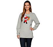 Quacker Factory Holiday Spirit French Terry Sweatshirt - A268966