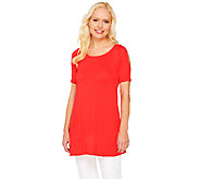 As Is Susan Graver Rayon Nylon Cold Shoulder Sweater - A270866