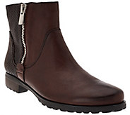 Earthies Leather Ankle Boots w/ Side Zipper - Sintra II - A270966