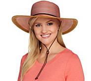 San Diego Hat Solid Brim Hat with Chin Strap UPF 50 - A274466