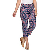 Isaac Mizrahi Live! TRUE DENIM Floral Printed Cropped Jeans - A274766