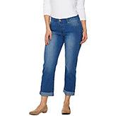 Women with Control My Wonder Denim Polka Dot Boyfriend Jeans - A275066