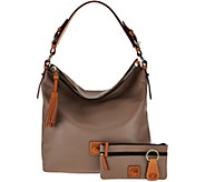 Dooney & Bourke Smooth Leather Hobo with Accessories - A275666