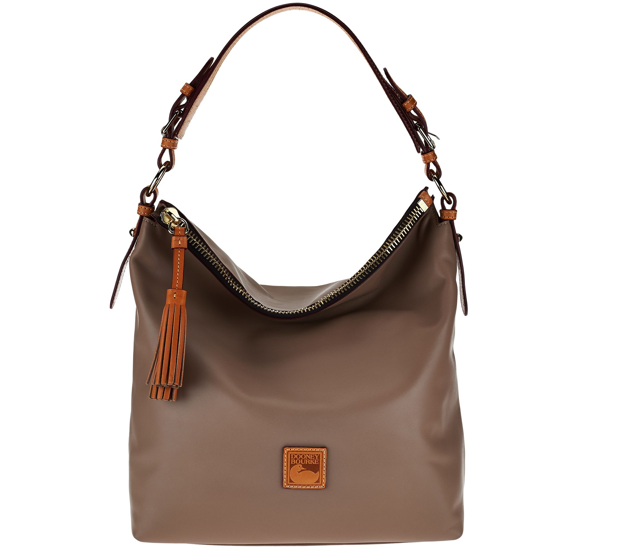 Dooney & Bourke Smooth Leather Hobo with Accessories - Page 1 ...