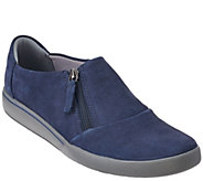 As Is Clarks Slip-on Sneakers - Penwick Molto - A278666