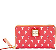Dooney & Bourke MLB Phillies Zip Around Phone Wristlet - A280866