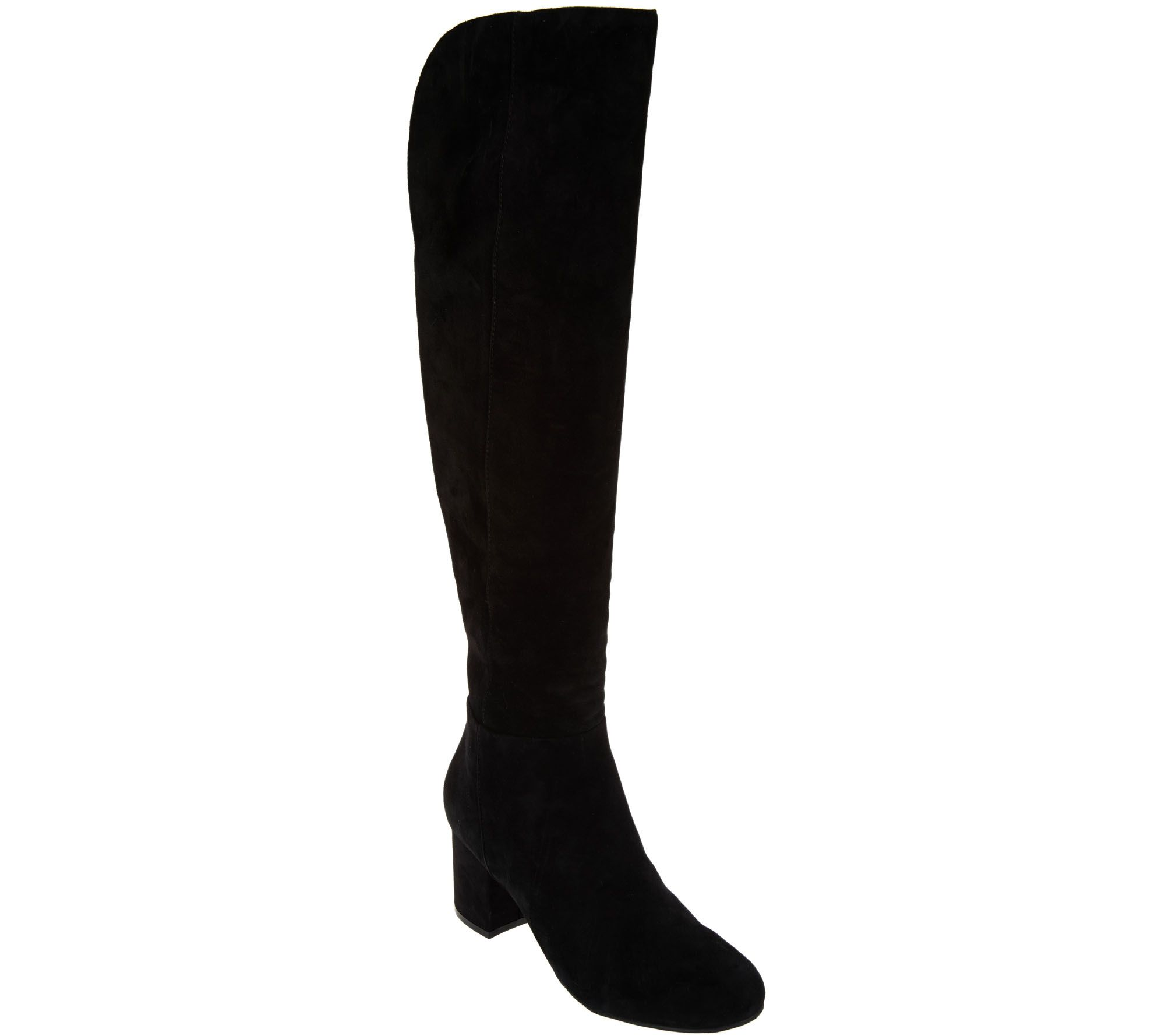 Women s boots on sale or clearance - Suede Over The Knee Boots With Block Heel A282566