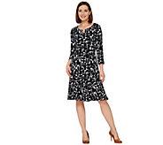 As Is Susan Graver Liquid Knit Dress with Enamel Detail - A284066