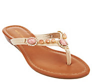 As Is Marc Fisher Thong Sandals with Embellishments - Liliana - A284666