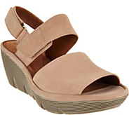 Clarks Artisan Leather Wedge Sandals - Clarene Allure - A290066